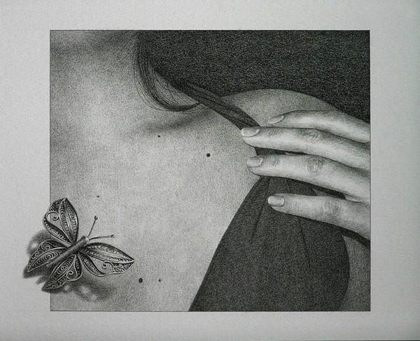 素描:是指运用铅笔或者炭笔之类的单色调黑色美术用笔对物体进行刻画